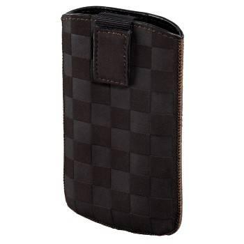 Чехол Hama H-109381 Velvet Pouch Square для мобильного телефона 12.5 х 6 х 1.8 см велюр коричневый - фото 1