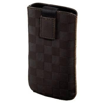 Чехол для мобильного телефона Hama Velvet Pouch Square коричневый велюр (H-109382) - фото 1