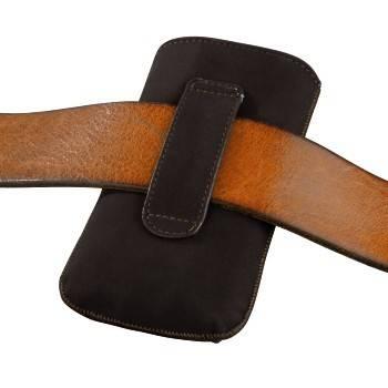 Чехол для мобильного телефона Hama Velvet Pouch Square коричневый велюр (H-109382) - фото 2