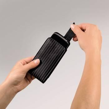 Чехол Hama H-109451 Pablo для моб.тел. 1.3х11.5х6.3см  сохраняет форму кожа черный/серый  - фото 2