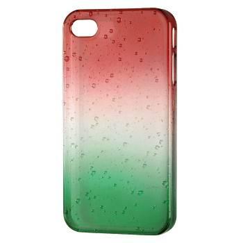 Чехол для iPhone 4/4S Hama Drop голубой/зеленый пластик (H-115360) - фото 1