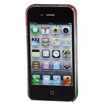 Чехол для iPhone 4/4S Hama Drop голубой/зеленый пластик (H-115360) - фото 2
