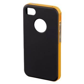 Чехол для iPhone 4/4S Hama Hybrid черный/оранжевый (H-118726) - фото 1