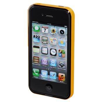 Чехол для iPhone 4/4S Hama Hybrid черный/оранжевый (H-118726) - фото 2