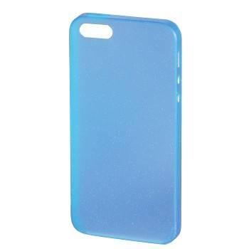 Футляр Hama H-118904 Slim Glitter для  iPhone 5 ультра тонкий 0.4 мм  пластик синий  - фото 1