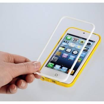 Футляр Hama H-118915 Hybrid для Apple iPhone 5 две детали: рамка+крышка белый/оранжевый  - фото 2