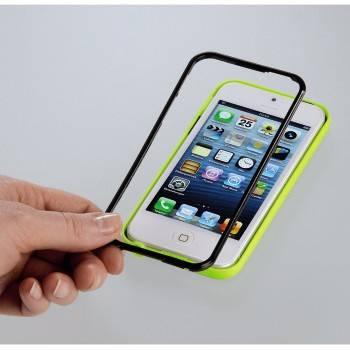 Чехол для Apple iPhone 5 Hama Hybrid черный/салатовый (H-118916) - фото 2