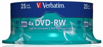 Диск DVD-RW Verbatim 4.7Gb 4x (25шт) (43639)