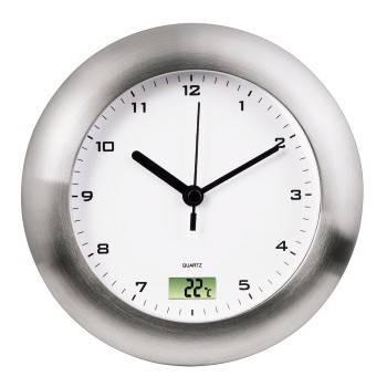Настенные часы Hama Bathroom H-113914 аналоговые серебристый