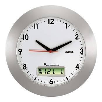 Настенные часы Hama RCW500 H-92636 аналоговые белый/серебристый - фото 1