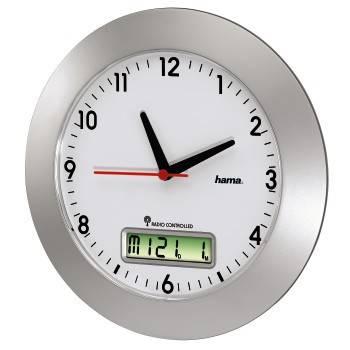 Настенные часы Hama RCW500 H-92636 аналоговые белый/серебристый - фото 2