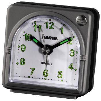 Будильник Hama A20 H-92644 аналоговые серый - фото 1