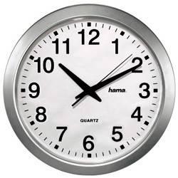 Настенные часы Hama CWA100 H-92645 белый/серебристый (00092645)