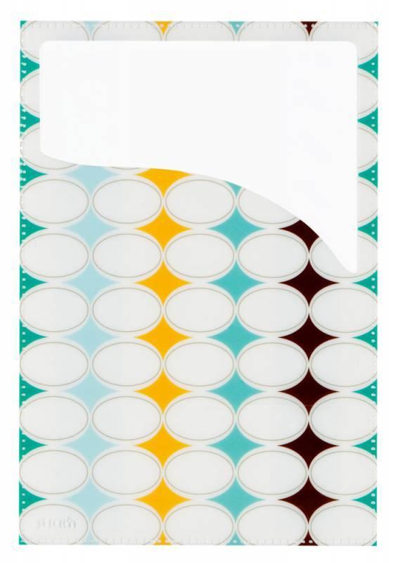Набор самоклеящихся карманов Узор, 3 размера (А4, 20 х 14 см, 10 х 23 см), цвет - ассорти, STICK'N. - фото 3