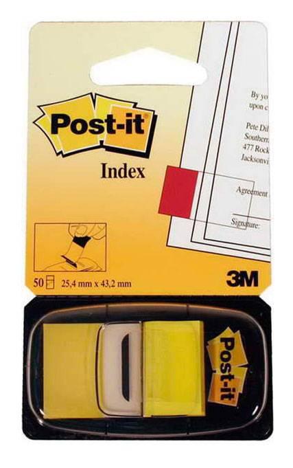 Закладки-индексы POST-IT, 2.5 см, 50 листов,желтый, 3М - фото 1