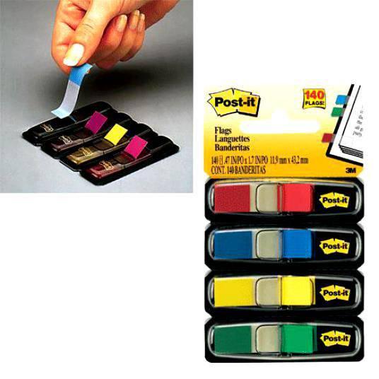 Закладки индексы POST-IT, 1.2 см, 140 листов, 4 цвета, 3М - фото 2