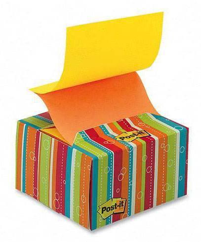 Бумага для заметок (Z- блок) POST-IT, 76 х 76 мм, 200 листов, в картонном диспенсере  Мармелад, 3M - фото 1
