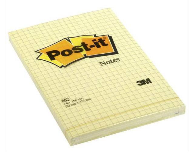 Блокнот 3M Post-it 662 карманный 100стр. желтый - фото 1