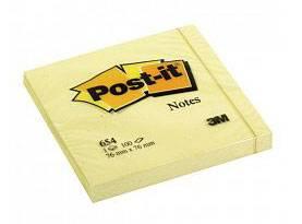 Бумага для заметок POST-IT, 76х76 мм, 100 листов, желтый, 3М - фото 1