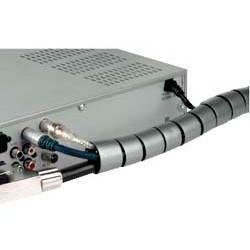 Кабель-органайзер Hama H-20600 2.5м серебристый (00020600)