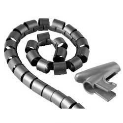 Кабель-органайзер Hama H-20601 0.15м серебристый (00020601)