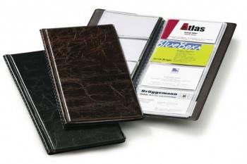 Визитница Durable Visifix 2380-11 253х115мм (96 визиток) коричневый