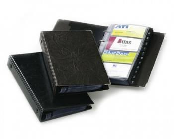 Визитница Durable Visifix200 255х145мм (200 визиток) вклад.:25шт. черный