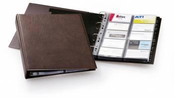 Визитница Durable Visifix 2384-11 A4 57х90мм (400 визиток) вклад.:20шт. коричневый