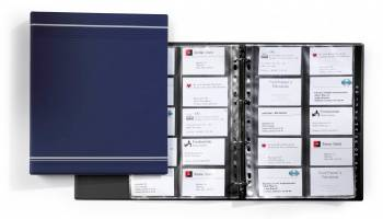 Визитница Durable Visifix 2388-07 A4 57х90мм (400 визиток) вклад.:20шт. темно-синий