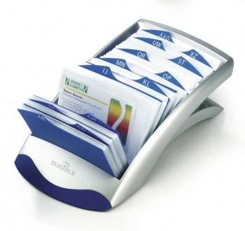 Визитница Durable Visifix Desk 2413-23 (200 визиток) вклад.:100шт. серебристый