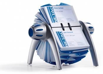 Визитница Durable Visifix 2417-23 (400 визиток) вклад.:200шт. серебристый