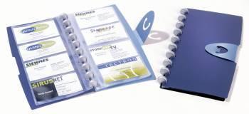 Визитница Durable VISIFIX Walk 2452-07 57х90мм (96 визиток) вклад.:12шт. синий