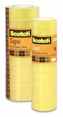 Клейкая лента канцелярская 3M Scotch 508 в упаковке: 12шт. (7000039525)
