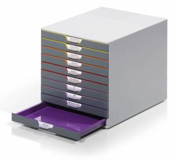Бокс для документов Durable 7610-27 Varicolor ассорти/серый
