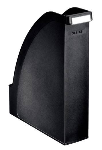 Лоток вертикальный Esselte 24760095 Plus черный пластик - фото 1