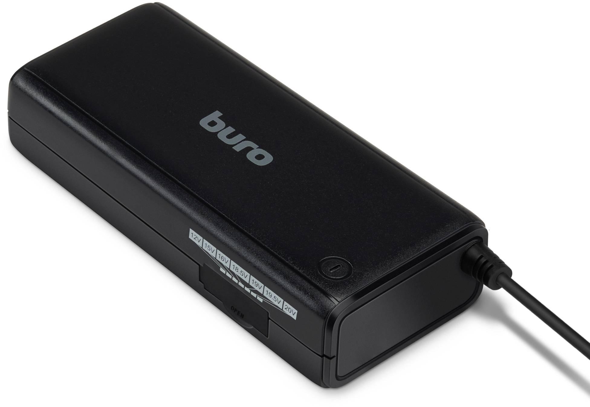 Блок питания для ноутбука Buro BUM-1187H90 черный - фото 1