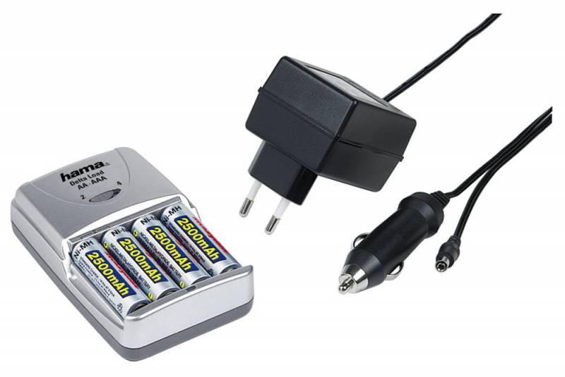 Аккумулятор + зарядное устройство AA Hama H-73405 Delta Load (4шт. уп) - фото 1