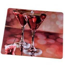 Коврик для мыши Hama Drinks 4 color 230х190х1мм шелк/резина (H-52236) - фото 2