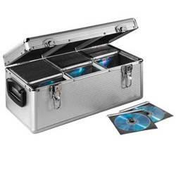 Кофр Hama H-26798 алюминиевый для 390 CD конверты в комплекте серебристый - фото 2