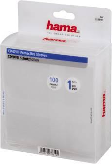 Конверт Hama на 1CD/DVD H-33810 прозрачный (в упаковке:100шт) - фото 3