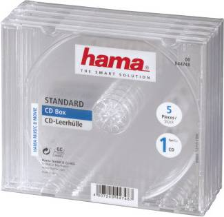 Коробка Hama на 1CD / DVD H-44748 Jewel (в упаковке:5шт)