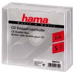 Коробка Hama на 2CD/DVD H-44752 прозрачный (в упаковке:5шт) (00044752)