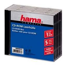Коробка Hama H-48433 Jewel Case для CD 5шт пластик прозрачный  - фото 2