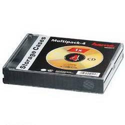 Коробка Hama на 4CD/DVD H-49415 черный (00049415)