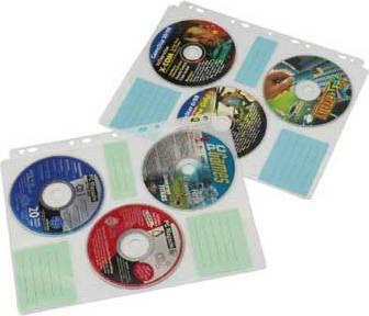 Файлы Hama для 6CD transparent/white (10шт) (H-49835) - фото 1