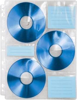Файлы Hama для 6CD transparent/white (10шт) (H-49835) - фото 2