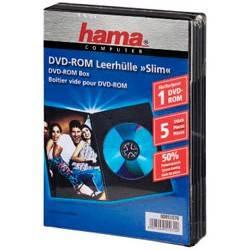 Коробка Hama H-51070 для 1 DVD Slim 5 шт. черный  - фото 2