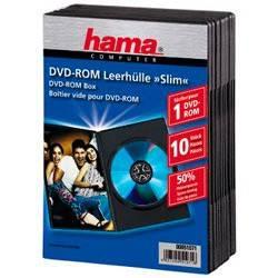 Коробка Hama H-51071 для 1 DVD Slim 10 шт. черный  - фото 1