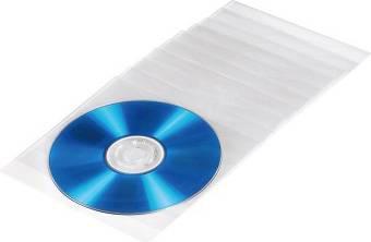 Конверт Hama на 1CD/DVD H-51095 прозрачный (в упаковке:100шт) (00051095)