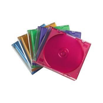 Коробка Hama на 1CD/DVD H-51166 Slim Box разноцветный (в упаковке:25шт) (00051166)